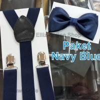Jual Paket Suspender/Bretel/Tali Jojon 2,5cm + Dasi Kupu Dewasa Seri 2 Murah