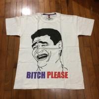 Kaos Distro. Gambar Meme 9Gag. Size M. Warna Putih. Baru