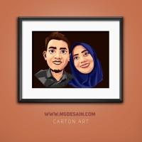 LUCU!! Ubah Foto Jadi Kartun Couple (Crtoon Art) Untuk Hadiah/Pajangan