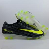 Sepatu Bola Nike Vapor 11 CR7 Black Volt FG Replika Impor