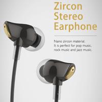 IEM Rock Nano Zircon Luxury Earphone Headset In Ear With Microphone