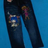 Jual celana legging anak motif jeans Murah