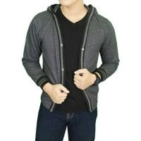sweater rajut cotton cardigan hoodie pria