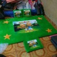 Jual Karpet set bulu printing karakter upin ipin Murah
