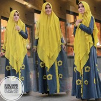 syafia denim by gallery syarifah (gamis/dress)