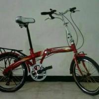 Sepeda Lipat Phoenix Star Merah