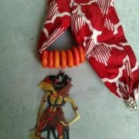 Jual kalung batik wayang kulit - gatotkaca Murah