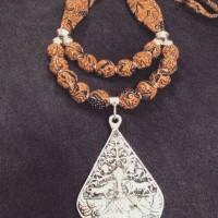 Jual kalung batik mote wayang Murah