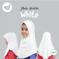 Jilbab Afrakids White Ja018 Ukuran M