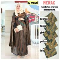 Jual Long Dress Maxi Wanita Muslim batik solo cape merak XL Murah
