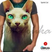Kaos 3D kucing sphynx Cat - All size