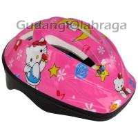 Helm Sepatu Roda Anak Karakter (Hello Kitty)