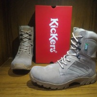 Jual Sepatu Boots Pria Kickers Delta Tracking Safety Cream Murah