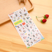 sticker emoji emoticon korea scrapbook diary agenda calendar