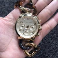 MK Runway Gold Tone Ladies Watch MK4222