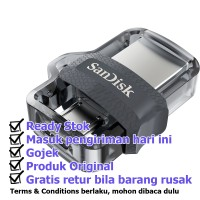 Jual Sandisk Flashdisk Ultra Dual 32GB 2 in 1 Super Speed USB 3.0 + USB OTG Murah