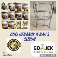 harga Rak 3 Susun Chrome Plated & Guci Keramik Galon Air Tokopedia.com