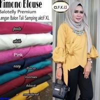 Jual KIMONO BLOUSE-blouse baloteli-fashion hijab-atasan lengan balon-N1 Murah