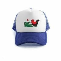 Topi Trucker Jaring + Logo Perusahaan, komunitas, bola dll