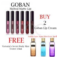 Jual Goban Lipstick Melted Matte Lip Cream All Shades 4.5gr Murah