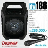 Jual Speaker Aktif Portable Bluetooth Karaoke - Radio and USB Dazumba DW186 Murah