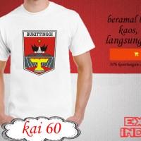 Kaos desain KOTA indonesia kota bukittinggi KAI 60