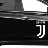 Stiker Bola Logo New Juventus Sticker Mobil Siluet Lambang Juve Besar