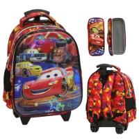 Jual Top   Tas Trolley TK Import - Cars McQueen 5D Timbul Hologram + Kotak Murah