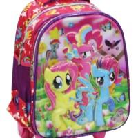 Jual Top   Tas Trolley TK Import - Little Pony 5D Timbul Hologram Dua Murah