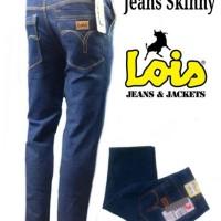 Jual Celana Jeans pria Skinny Slimfit Lois Biru Dongker Murah