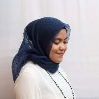 Jual Hijab Cantik Organza Dot murah hits (kerudung/jilbab/square) Murah