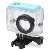 Jual Water Proof Anti Blur Case IPX68 40m For Xiaomi Yi Sports Camera Biru Murah