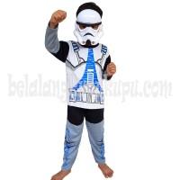 Jual Baju Anak Kostum Topeng Superhero Star Wars Stormtroope Termurah Murah