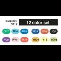 Jual COPIC Sketch Basic colour set 12 pcs Murah