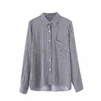 Casual Blus Motif Stripe Size(S,M)-Lengan Panjang -Trendy 42800