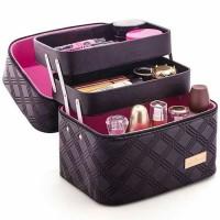 Jual PROMO TAS KOSMETIK Cosmetic Bag 2 layer AWET BERKUALITAS MURAH Murah