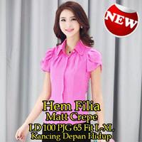 Jual [Hem Filia SW] kemeja wanita crepe pink Murah