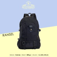 Jual Tas Ransel Modern Kanvas Pria / Cowok Travel Backpack Bag - 342 Murah