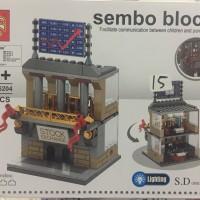 Sembo Block Lego Model Stock Exchange Office 138pcs