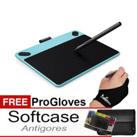 Jual Intuos Draw Biru CTL490 BONUS :SOFTCASE, Antigores & Gloves Murah