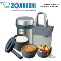 Zojirushi Thermal Stainless Lunch Box SL-NC09-ST Silver