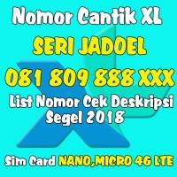 Perdana XL 4G Rapih Murah Meriah (Nocan,nomor cantik,AABB,abab,triple