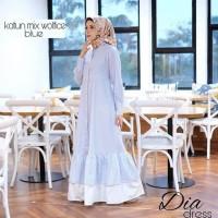 Dia Dress / long dress / baju katun / dress cantik / gamis hijab baru
