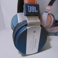 Headset Bluetooth Stereo JBL JB55 Super Bass ( Leather ) With Fm Radio