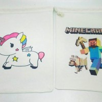 Tas / Pouch / Ransel / Tote Bag  Belacu / Blacu -  Unicorn & Minecraft
