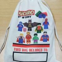 Tas / Pouch / Ransel / Tote Bag  Belacu / Blacu - Lego Superhero