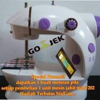 Jual Mesin Jahit Mini Portable FHSM 202 (New Versi Ada Lampunya) Murah