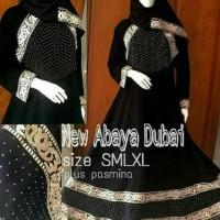 gamis / jubah / busana muslim abaya bordir dubai maria plus pasmina