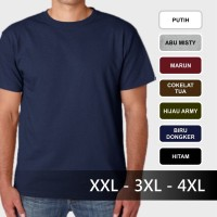 Jual 3XL / 4XL (XXXL) - Baju kaos oblong polos cowok cewek jumbo big size Murah