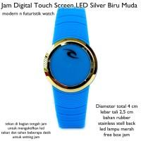 Jual  jam tangan digital touch screen led silv KODE TR1166 Murah